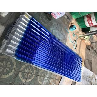 """tôn nhựa lấy sáng """"xanh"""" ( rộng 1,07m + dài 2m+ độ dầy 6zem),tôn lợp ngoài trời,tôn lấy sáng,tôn sóng poly"""