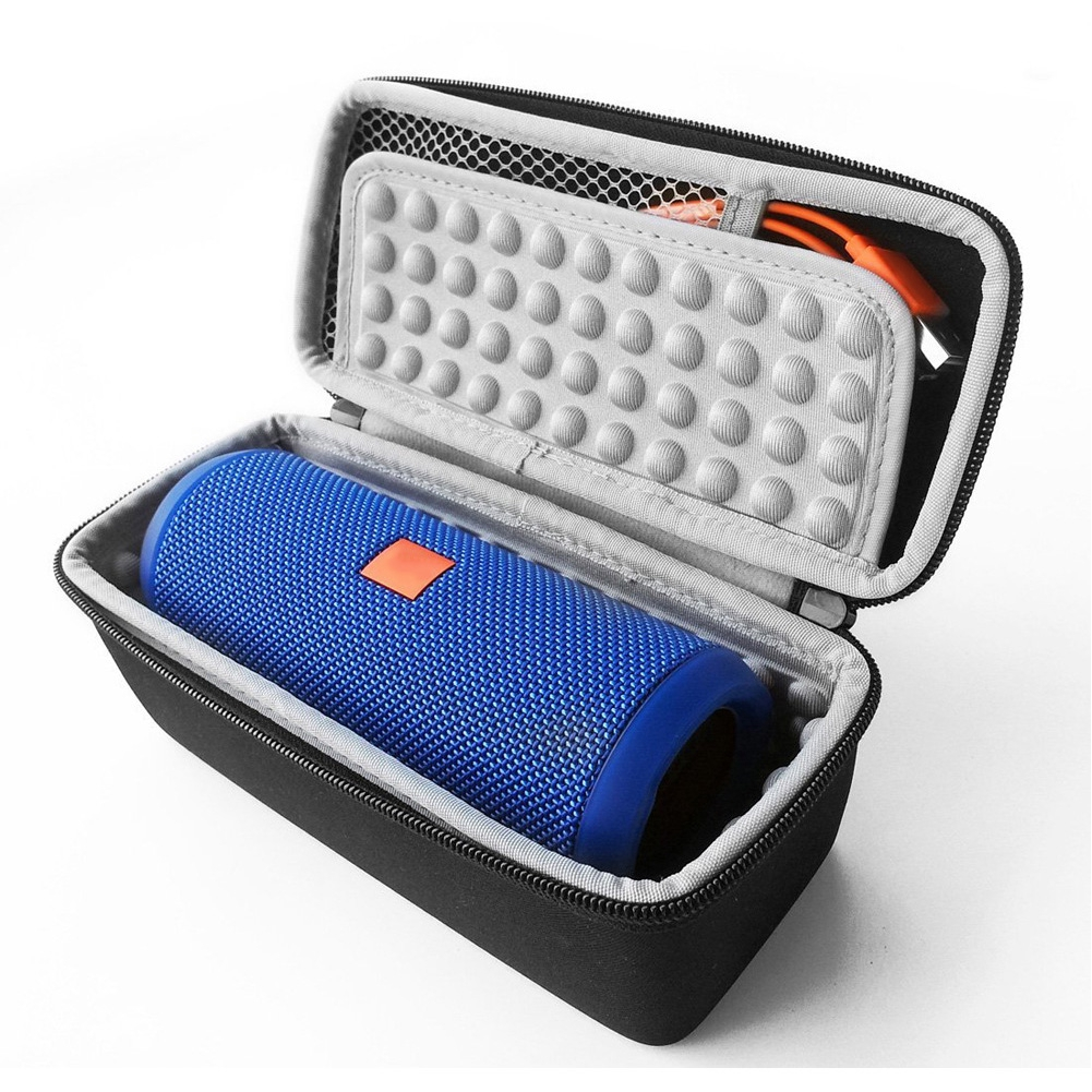 Portable Waterproof Protective Travel Wireless Bluetooth EVA Fits USB Cable Speaker Case For JBL Flip 3/4