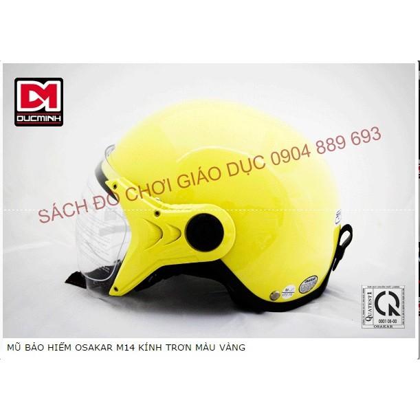Mũ bảo hiểm nửa đầu Osakar M14 có kính màu vàng trơn - 2607578 , 457770323 , 322_457770323 , 220000 , Mu-bao-hiem-nua-dau-Osakar-M14-co-kinh-mau-vang-tron-322_457770323 , shopee.vn , Mũ bảo hiểm nửa đầu Osakar M14 có kính màu vàng trơn