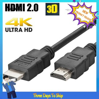 ✡COD✡0.5/1.5/1/2/3m 1080P HD HDMI V1.4 Male to Male Adapter Cable for TV DVD Monitor