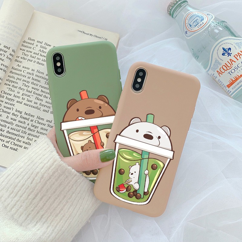 [ IPHONE ] Ốp Lưng Silicon Ly Gấu Kute