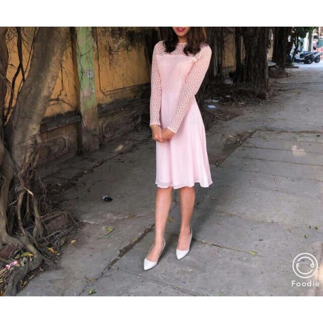 (SALE UP TO 85%) Váy ren midi Elise Ryan Auth Sale