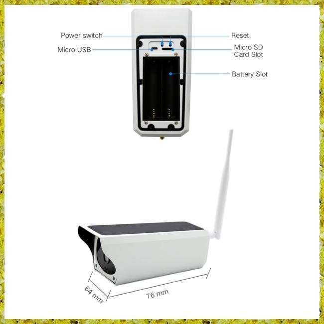 WIFI IP67 Waterproof Outdoor 1080P 2M Solar Powered CCTV