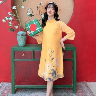 MEDYLA - Váy bầu xinh cách tân tơ lót lụa cho mẹ bầu diện tết - VS567 thumbnail