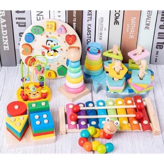 [RẺ VÔ ĐỊCH] Bộ đồ chơi gỗ thông minh 7 món đồ