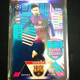 Thẻ cầu thủ/thẻ bóng đá Lionel Messi Champions League 2018/2019 Limited Edition