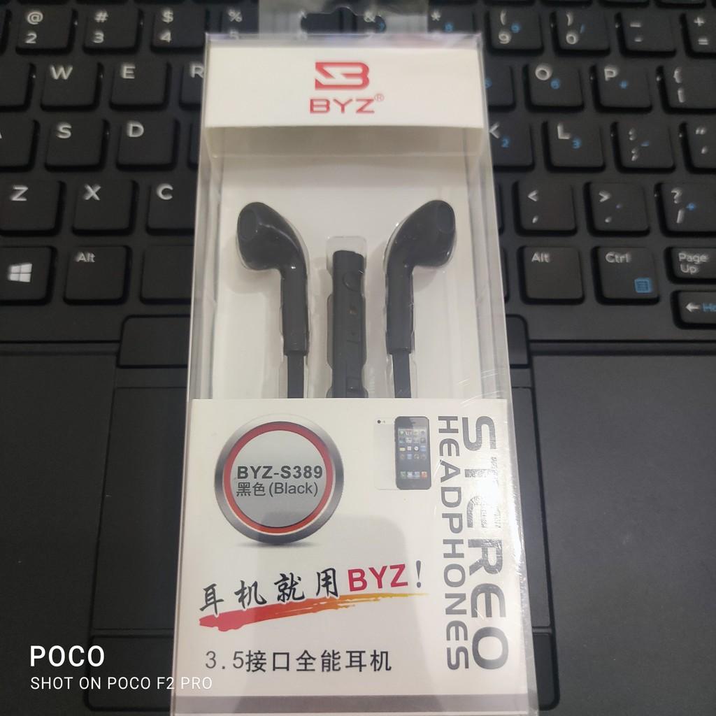 (Quà Tặng Sticker)Tai nghe nhét tai BYZ s389 hàng chính hãng có mic âm thanh chân thực