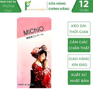 Bao cao su MICHIO Nhật Bản - Gân gai, khử mùi tối đa, co giãn linh hoạt (Che Tên Sản Phẩm) - Phan An CN364 thumbnail