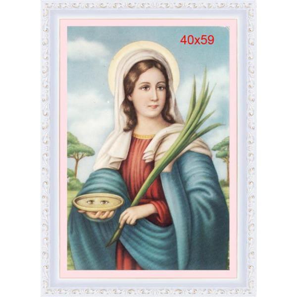 Mẹ Maria Cầm Cây Huệ Trắng