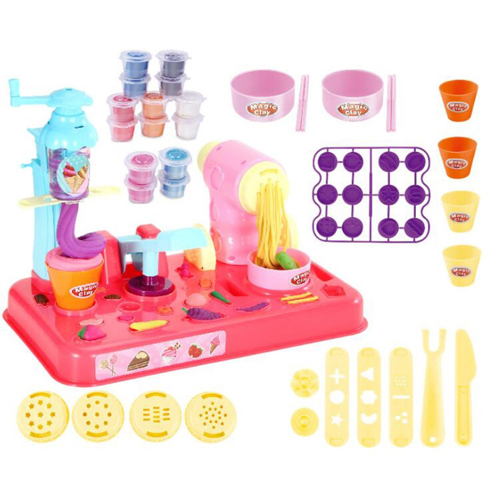 Kids plasticine play modeling clay extruder Creative 3d color mud Soft DIY