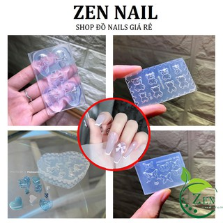 Khuôn silicon Nơ , Bướm, Gấu , Trái Tim Khuôn tạo hình trang trí móng thumbnail