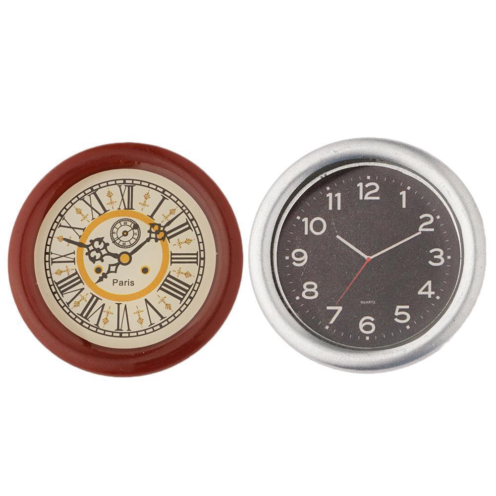 Retro Furniture Mini Wall Clock 1:12 Dollhouse Miniature Decor