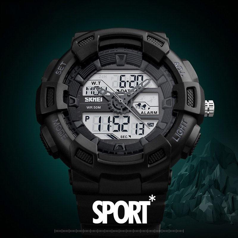 Đồng hồ điện tử nam thể thao SKMEI thời trang SKM189 chống nước chống xước siêu bền siêu mạnh mẽ