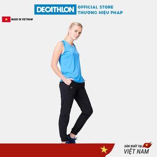 Áo thun thể thao tank top nữ run dry KALENJI chuyên chạy bộ, nhanh khô - xanh dương thumbnail