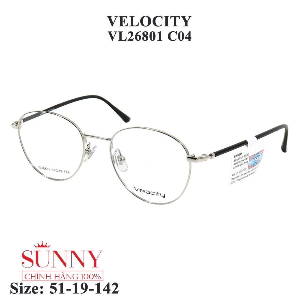 VL26801 – gọng kính kim loại Velocity chính hãng, bảo hành toàn quốc