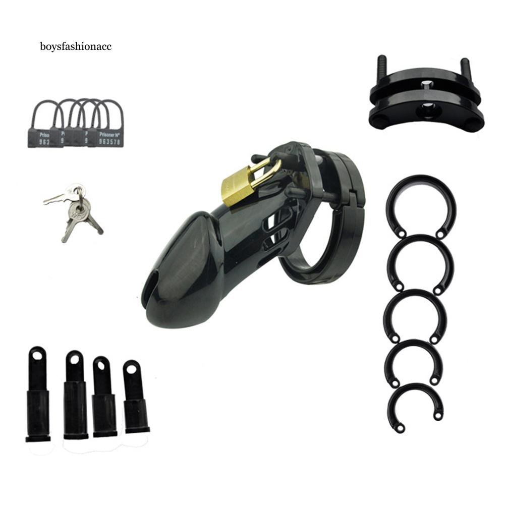 BOYS Penis Device Male Chastity Control Cock Lock Cage with Ring Sex Toy BDSM Prop