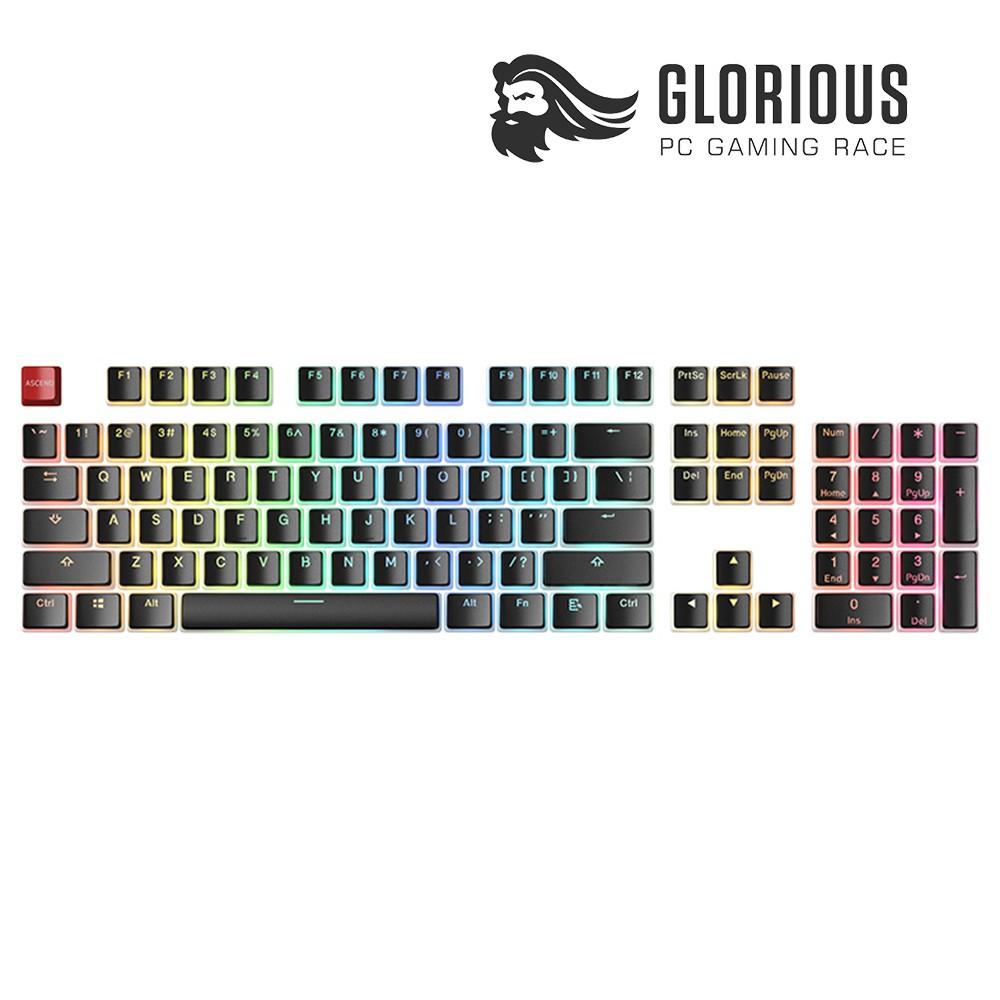 Bộ Keycap Pudding Glorious Aura PBT Doubleshot Black - 104 phím, ANSI - Hàng chính hãng
