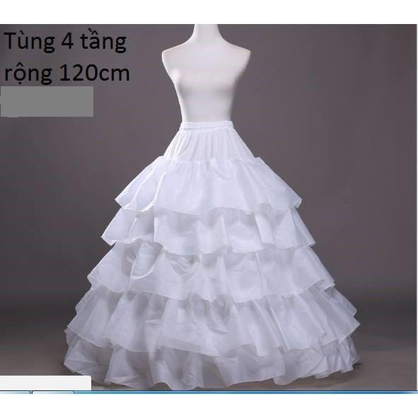 Tùng cô dâu váy xòe 4 tầng rộng 120cm _ CHcenter