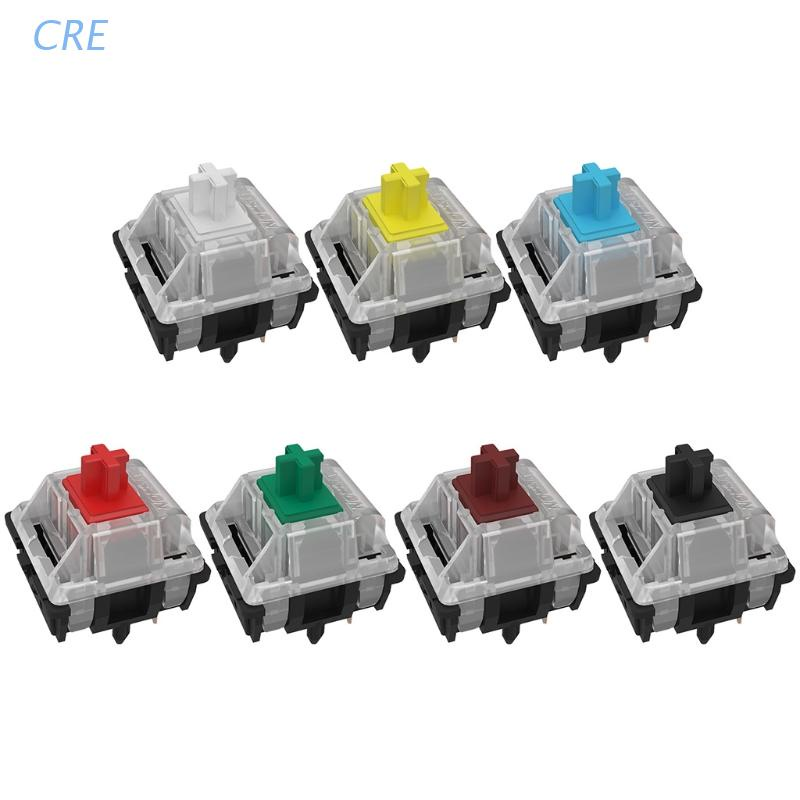 CRE  Gateron mx switch 5 pin Switches RGB SMD 5pin Axis Compatible for Cherry MX mechanical Keyboard diy Switches Yellow Red