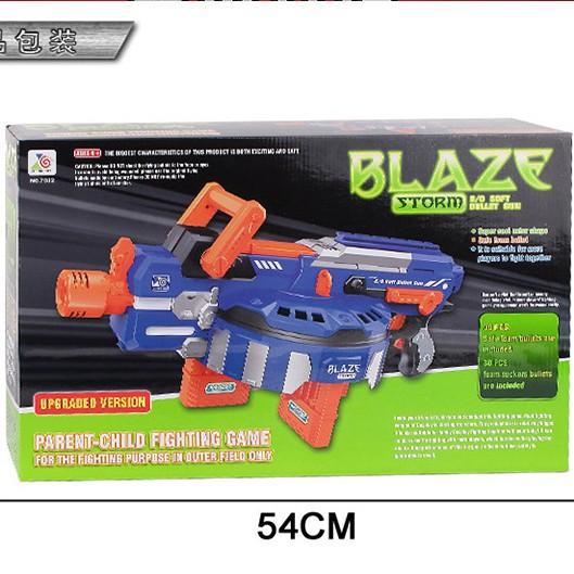 đồ chơi súng chạy pin Blaze cho bé + 60 đầ