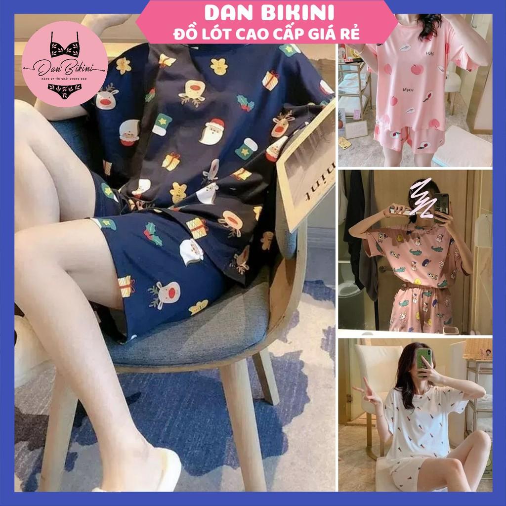 Mặc gì đẹp: Đồ Bộ Nữ ❤️FREESHIP❤️ Đồ Ngủ Nữ pyjama cộc tay phối hình họa tiết - Quần Áo Ngủ trẻ trung đáng yêu mã QA02