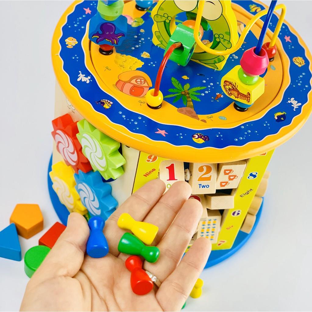 Hộp luồn hạt đa năng cỡ lớn - Đồ chơi gỗ