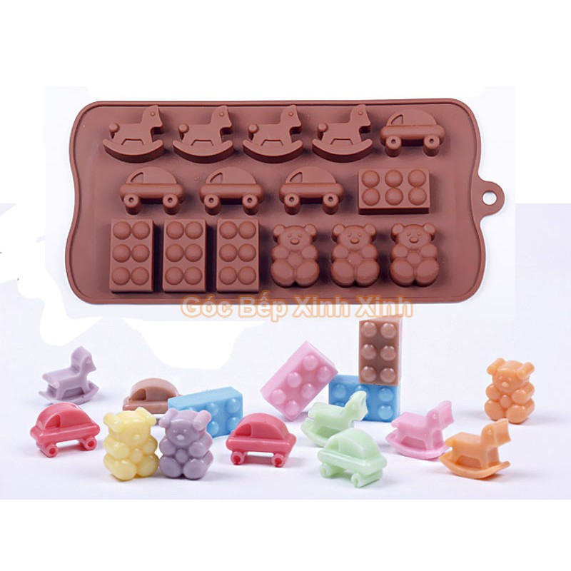 Khuôn silicon ngựa gấu xe dùng làm thạch kẹo dẻo socola - 2691412 , 856033394 , 322_856033394 , 30000 , Khuon-silicon-ngua-gau-xe-dung-lam-thach-keo-deo-socola-322_856033394 , shopee.vn , Khuôn silicon ngựa gấu xe dùng làm thạch kẹo dẻo socola