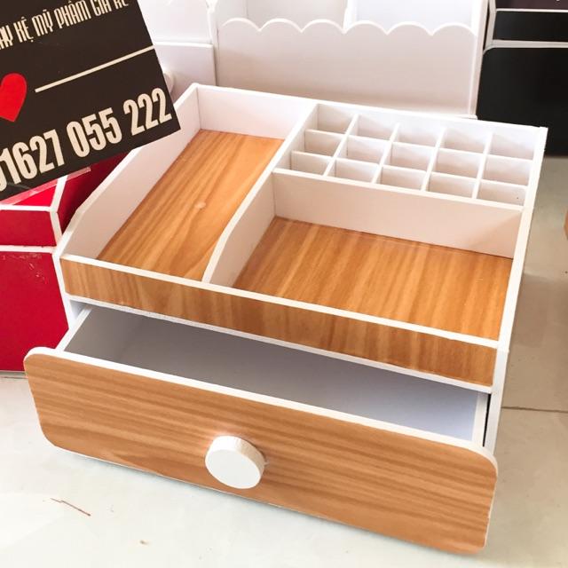 Kệ mỹ phẩm 25cm màu gỗ , khay son. - 3103227 , 1127567452 , 322_1127567452 , 120000 , Ke-my-pham-25cm-mau-go-khay-son.-322_1127567452 , shopee.vn , Kệ mỹ phẩm 25cm màu gỗ , khay son.