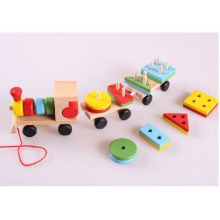 """Kagonk Đồ chơi tàu hỏa chở khối gỗ thả hình trụ cho bé - Lứa tuổi phù hợp 2-6 tuổi - Tăng khả năng phân biệt màu sắc giá chỉ còn <strong class=""""price"""">8.900.000.000đ</strong>"""