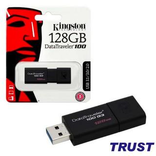 [Mã ELMS05 giảm 5% đơn 300K] USB 3.0 128GB Kingston DataTraveler 100 -Bảo Hành 5 Năm- Hàng Chính Hãng