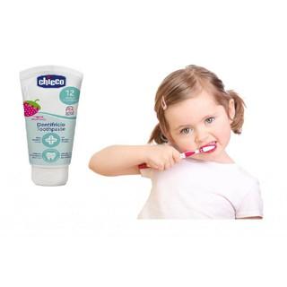 Kem đánh răng Chicco hương dâu mini (du lịch 15ml) nuốt được thumbnail