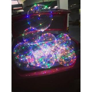 """18"""" LED String Light With Transparent Helium Balloons Christmas Wedding Party Decor - hình 3"""