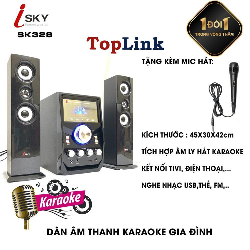 Dàn Âm Thanh Giải Trí Đỉnh Cao - Loa Vi Tính Hát Karaoke Âm Thanh Đỉnh Cao  Có Kết Nối Bluetooth Isky - SK328 chính hãng 1,350,000đ