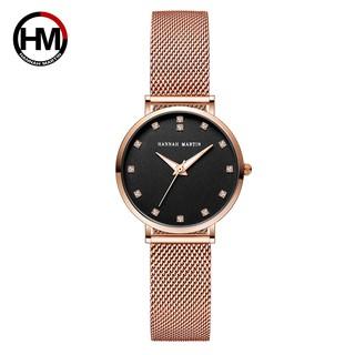 Đồng hồ nữ Hannah Martin chính hãng - style Quartz thạch anh cao cấp - Model cz32 - thumbnail