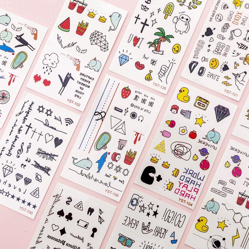 Sticker dán trang trí DIY chủ đề hoạt hình đáng yêu phong cách Hàn Quốc