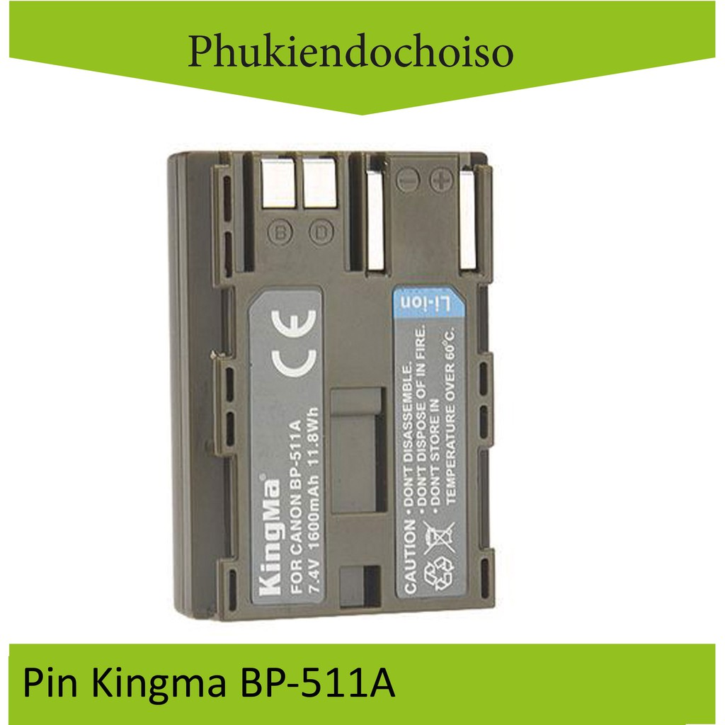 Pin Kingma cho Canon BP-511A + Hộp đựng Pin, Thẻ nhớ