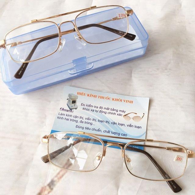 Kính lão kính viễn thị gọng dẻo chống gãy mắt thuỷ tinh cao cấp