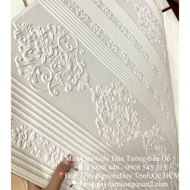 (Miền Nam) Xốp dán tường 3D hoa văn (có BẢO HÀNH)