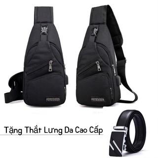 ❤️FREESHIP❤️ Túi Đeo Chéo Uniex Có Cổng Sạc USB -Tặng Thắt Lưng Da Cao Cấp – unisex.shopp