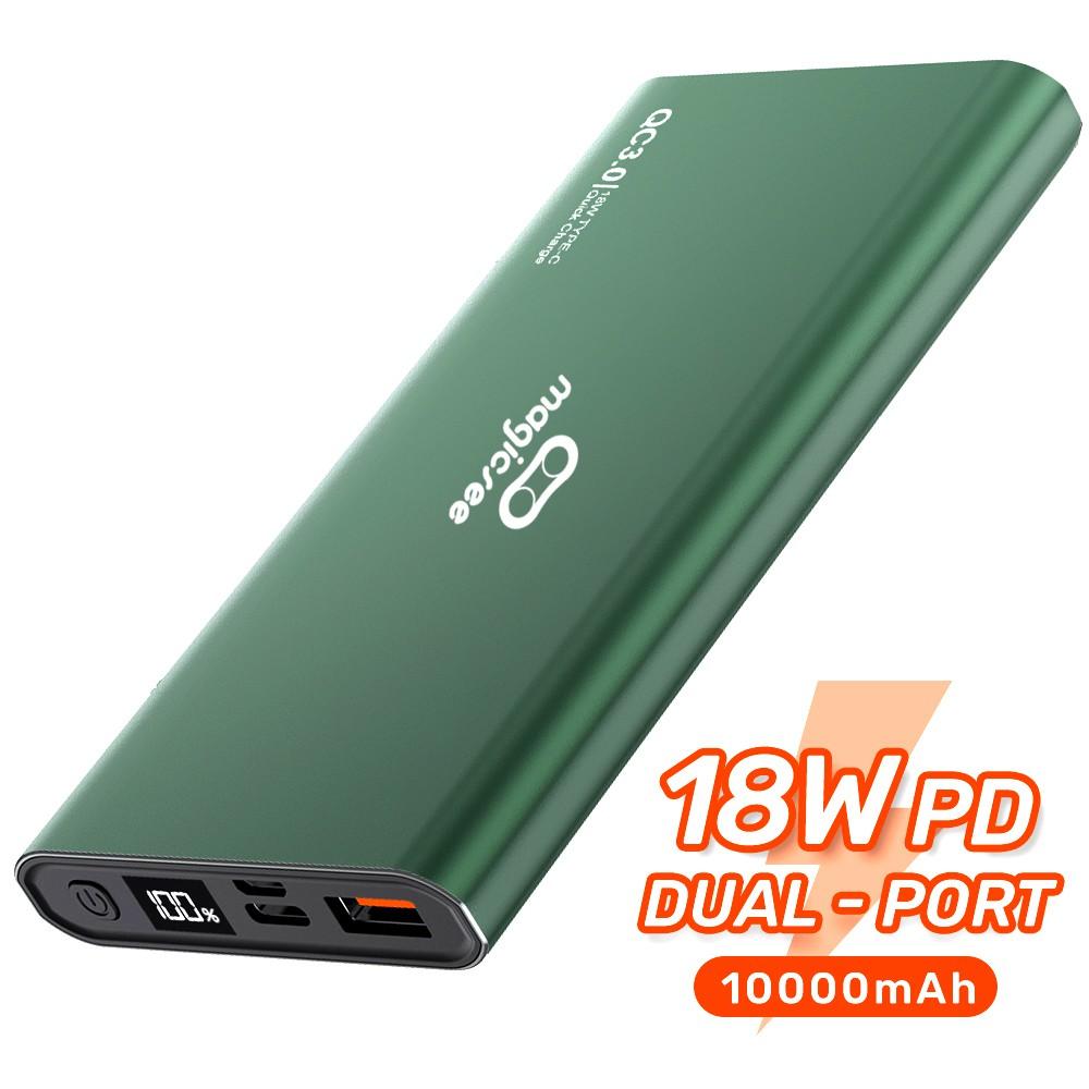 [Pin dự phòng] Pin sạc dự phòng Magicsee E1000S 10000mAh 18W QC3.0  2 cổng sạc nhanh đèn LED hiển thị điện tử