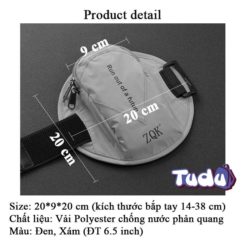 Túi Đựng Điện Thoại Tudu, Túi Đeo Tay Chạy Bộ Thể Thao Vải Polyester Phản Quang (CN311)