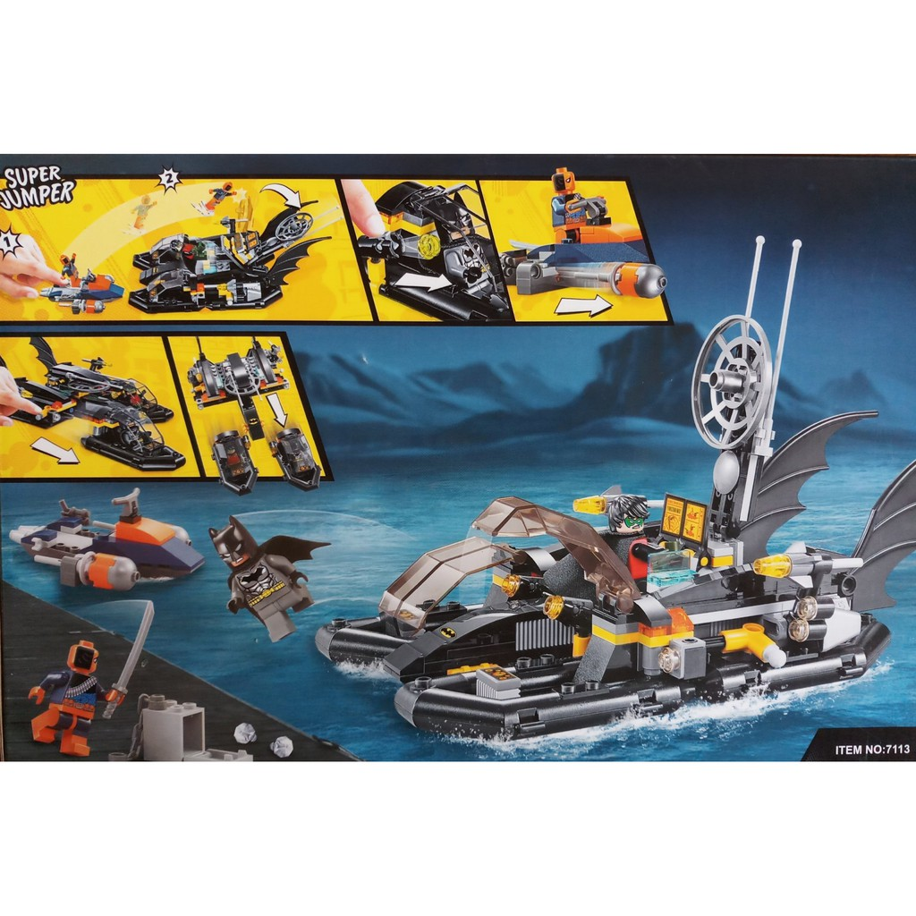 W077780 – 263PCS – Đồ chơi Lego Tàu chiến Batman Super Heroes 7113