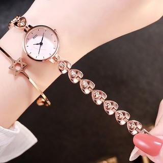 Đồng hồ nữ lắc DZG LTT chính hãng, cực đẹp, mặt kính mineral chống xước tốt, họa tiết trái tim xinh xắn