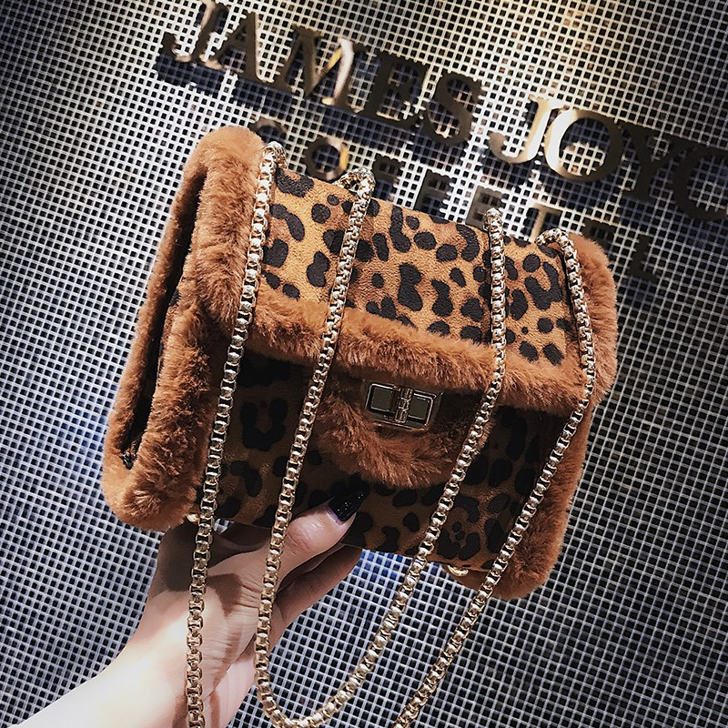 Retro autumn and winter women's wind port bag fashion leopard small square pocket i