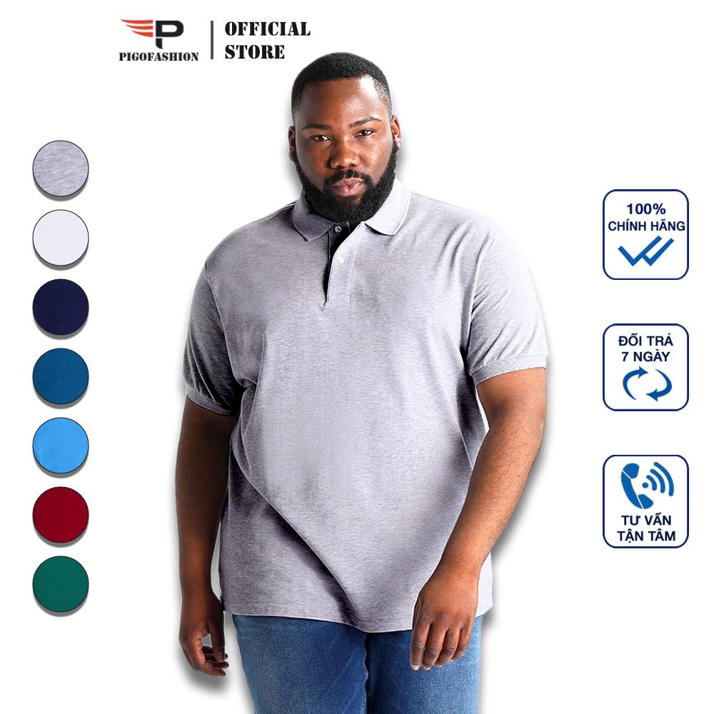 Áo thun nam big size cho người trên 80kg cổ bẻ cao...