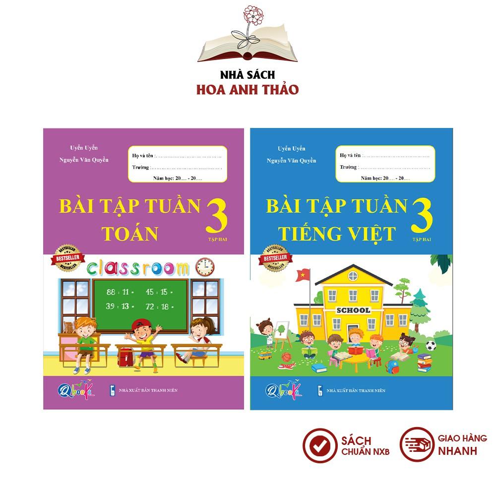 Sách - Bài tập tuần Toán và Tiếng Việt lớp 3 học kỳ 2 Bộ 2 quyển - BTT Tiếng Việt