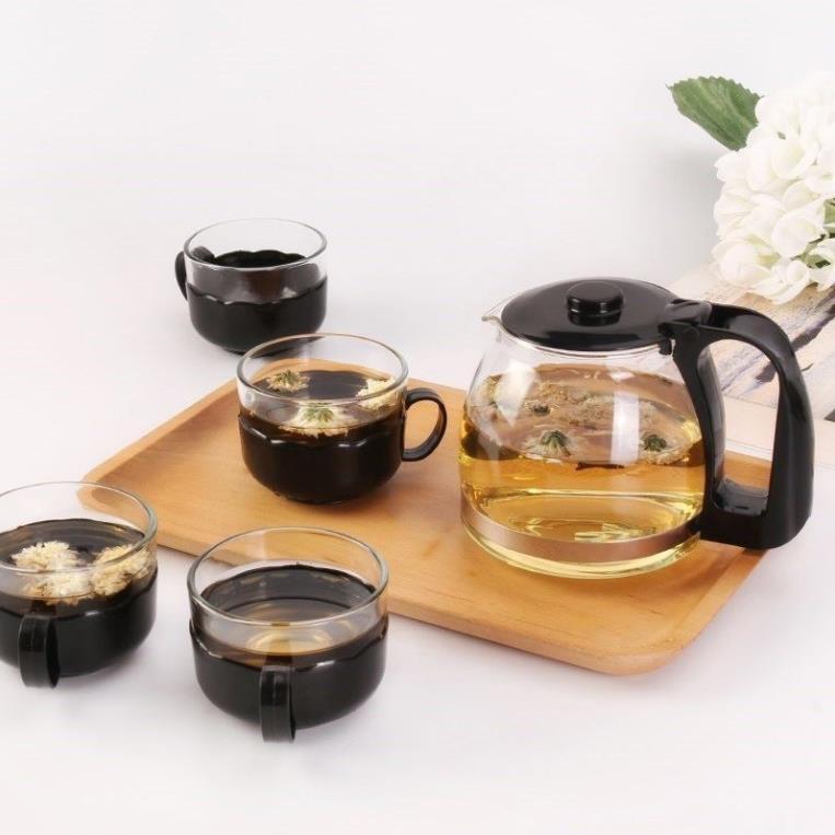 Ấm pha trà thủy tinh có lõi lọc inox 700ml,bình pha trà thủy tinh có lưới lọc ,bình ủ trà cao cấp