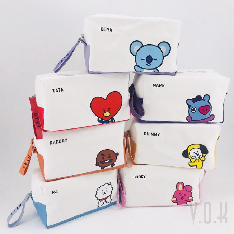 Ready Stock] COD BT21 BTS bag cosmetic pencil case 24