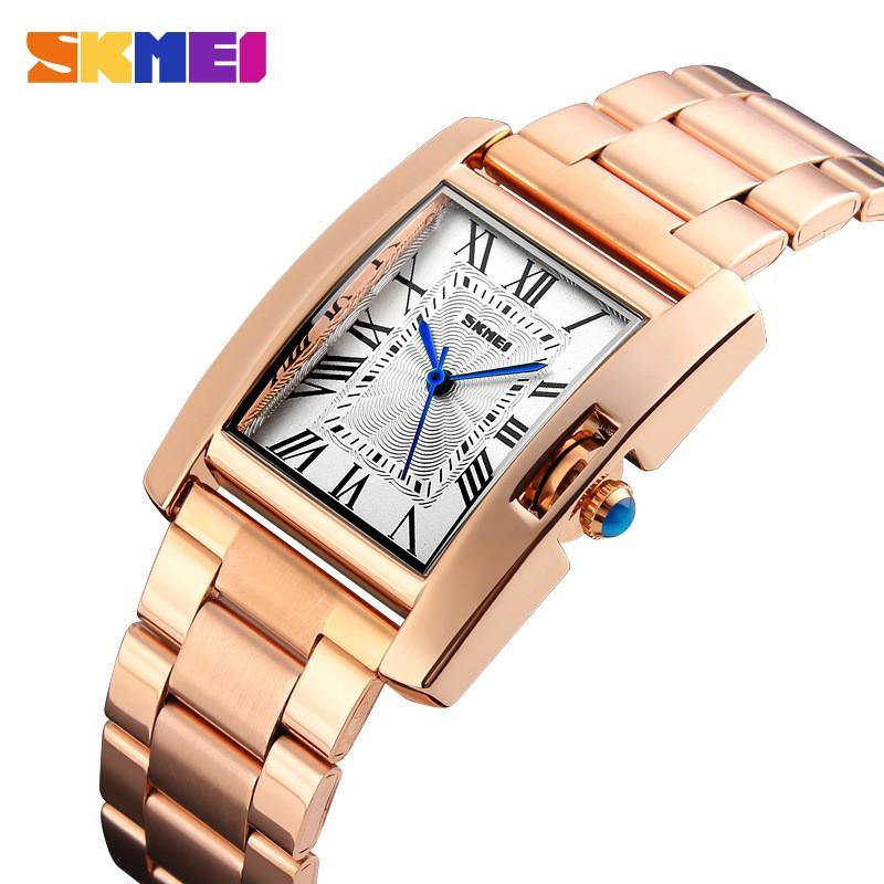 Đồng hồ nữ SKMEI S284K dây thép không gỉ cao cấp ( Mặt trắng )
