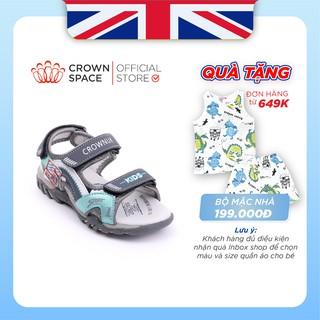 Dép Quai Hậu Bé Trai Đi Học Chính Hãng Crown Space UK Sandals Trẻ em Nam Cao Cấp  CRUK526  Nhẹ Êm Size 26-35/2-14 Tuổi
